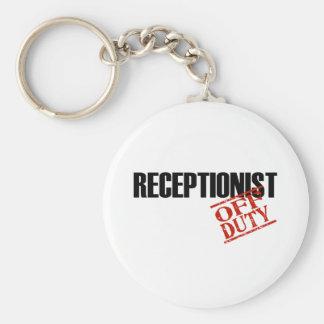 OFF DUTY RECEPTIONIST LIGHT KEY RING