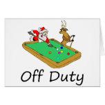 Off Duty Santa (Playing Pool)