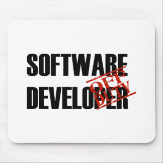 OFF DUTY SOFTWARE DEVELOPER LIGHT MOUSE PAD