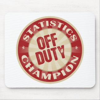 Off Duty Statistics Mouse Mat