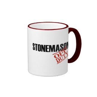 OFF DUTY STONEMASON COFFEE MUGS