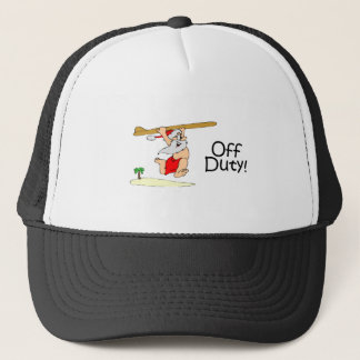 Off Duty Surfing Santa Trucker Hat