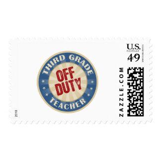Off Duty Third Grade Teacher Stamps