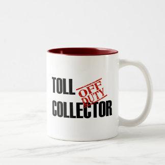 OFF DUTY TOLL COLLECTOR Two-Tone COFFEE MUG
