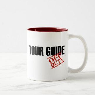 OFF DUTY TOUR GUIDE Two-Tone COFFEE MUG