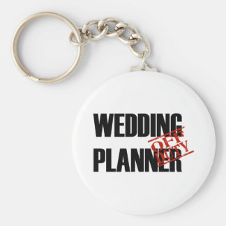 Off Duty Wedding Planner Basic Round Button Key Ring