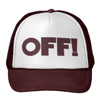 OFF Hat maroon