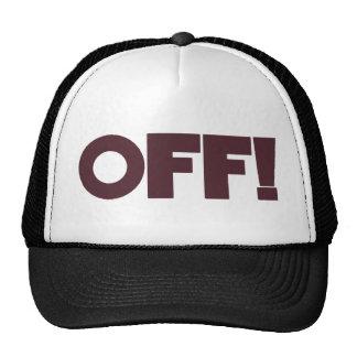 OFF Hat (maroon & black)