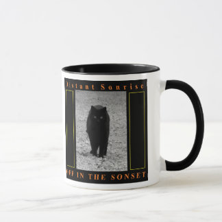 Off in the Sonset coffee mug