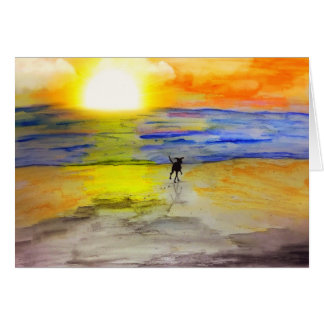 Off Into The Sunset Card