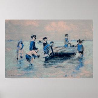 Off New Brighton Shore - 1891 Poster