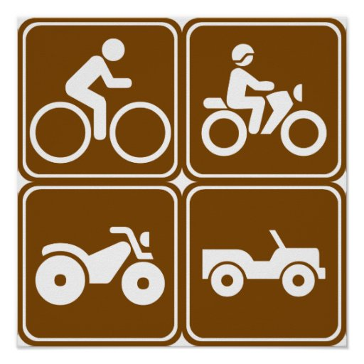 Off-Road Highway Signs (Collection) Print