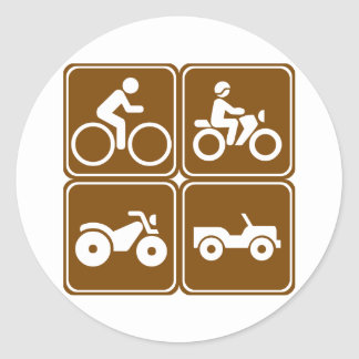 Off-Road Highway Signs (Collection) Sticker