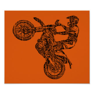 Off-road moto race poster