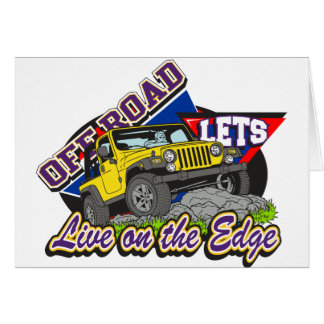 Off Road On The Edge Greeting Card