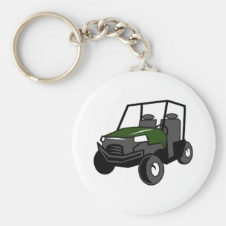 OFF ROAD VEHICLE BASIC ROUND BUTTON KEY RING