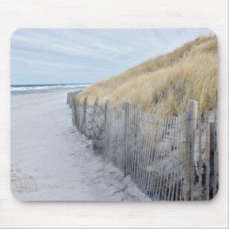 Off-season beach photo mouse pad