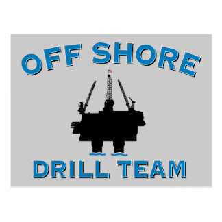 Off Shore Drill Team Postcard