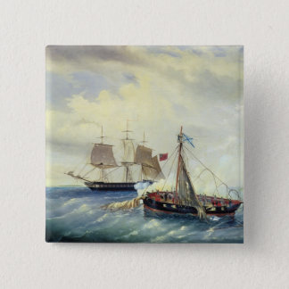 Off the coast of Nargen Island 15 Cm Square Badge