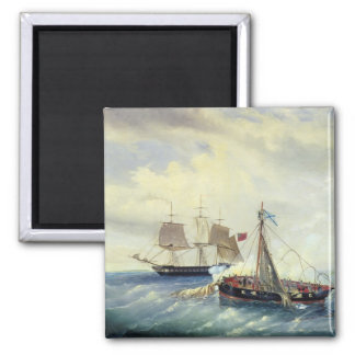 Off the coast of Nargen Island Square Magnet