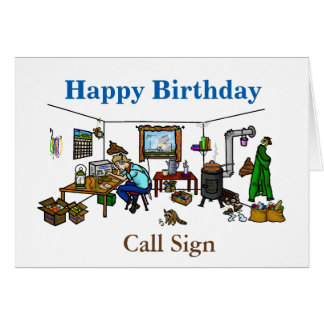 Off The Grid Ham Radio Birthday Card