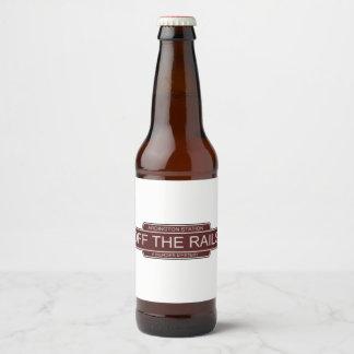Off The Rails custom beer bottle labels