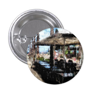 Off-time in a restaurant 3 cm round badge