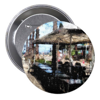 Off-time in a restaurant 7.5 cm round badge