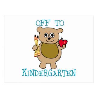 Off to Kindergarten Postcard