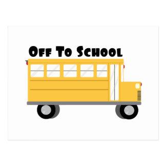 Off To School Postcard
