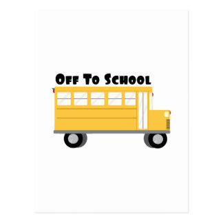 Off To School Postcard