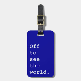 Off To See The World - Bag Tags