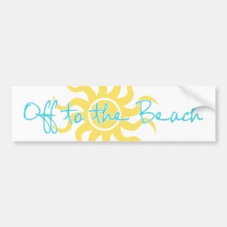 Off to the Beach Bumper Stickers