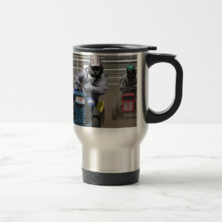 Off to the races -lawnmower races! travel mug