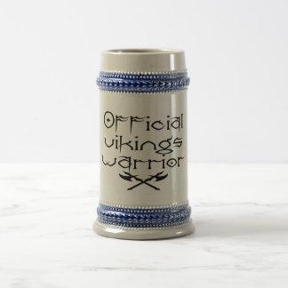 Off vikings warrior beer stein
