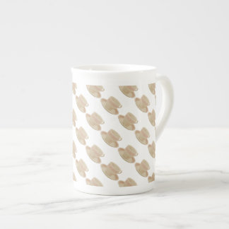 Off White and Pink Teacup Bone China Mug