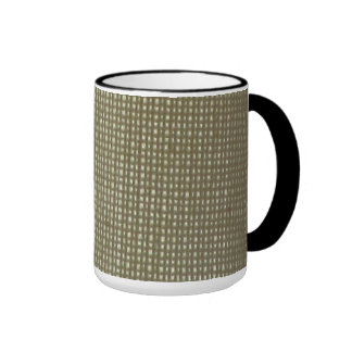 Off White Fabric Ringer Mug