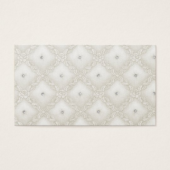 Off White Quilted Look Business Card