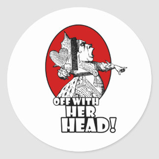 Off With Her Head Logo Classic Round Sticker