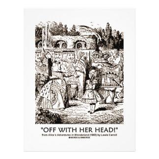 Off With Her Head Wonderland Alice Queen Quote 21.5 Cm X 28 Cm Flyer