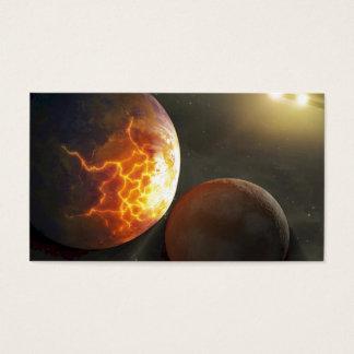 Off-World Planetary Crash Illustration