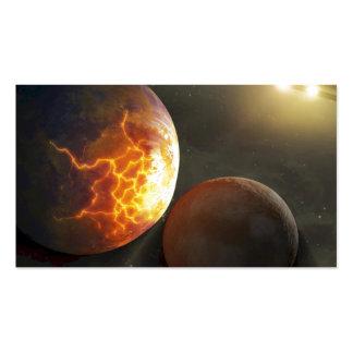 Off-World Planetary Crash Illustration Pack Of Standard Business Cards