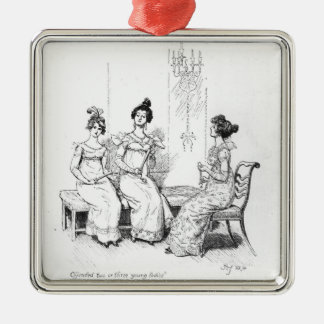 Offended two or three young ladies christmas ornament