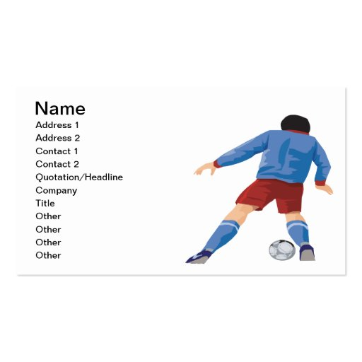 Offense Business Card Templates