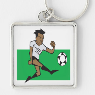 Offense Silver-Colored Square Key Ring