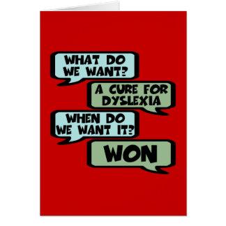 Offensive dyslexia slogan greeting card