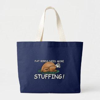 Offensive fat joke large tote bag