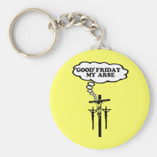 Offensive Good Friday Basic Round Button Key Ring