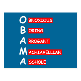 Offensive,insulting anti Obama Postcard