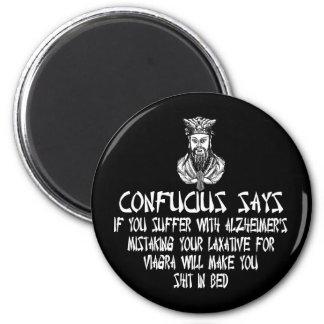 Offensive slogan Confucius Magnets